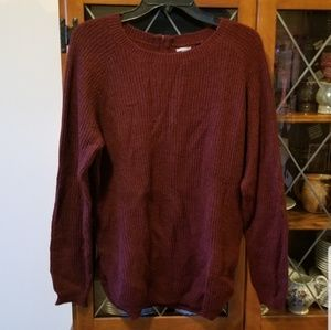 NWOT- Burgundy Sweater